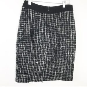 DownEast Skirt Black White Tweed Pencil M